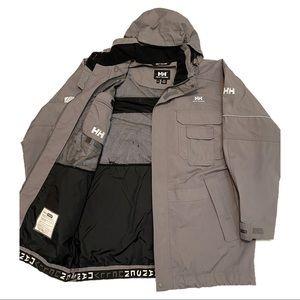Helly Hansen Helly-Tech All-Weather Waterproof Long Work Parka Coat - L